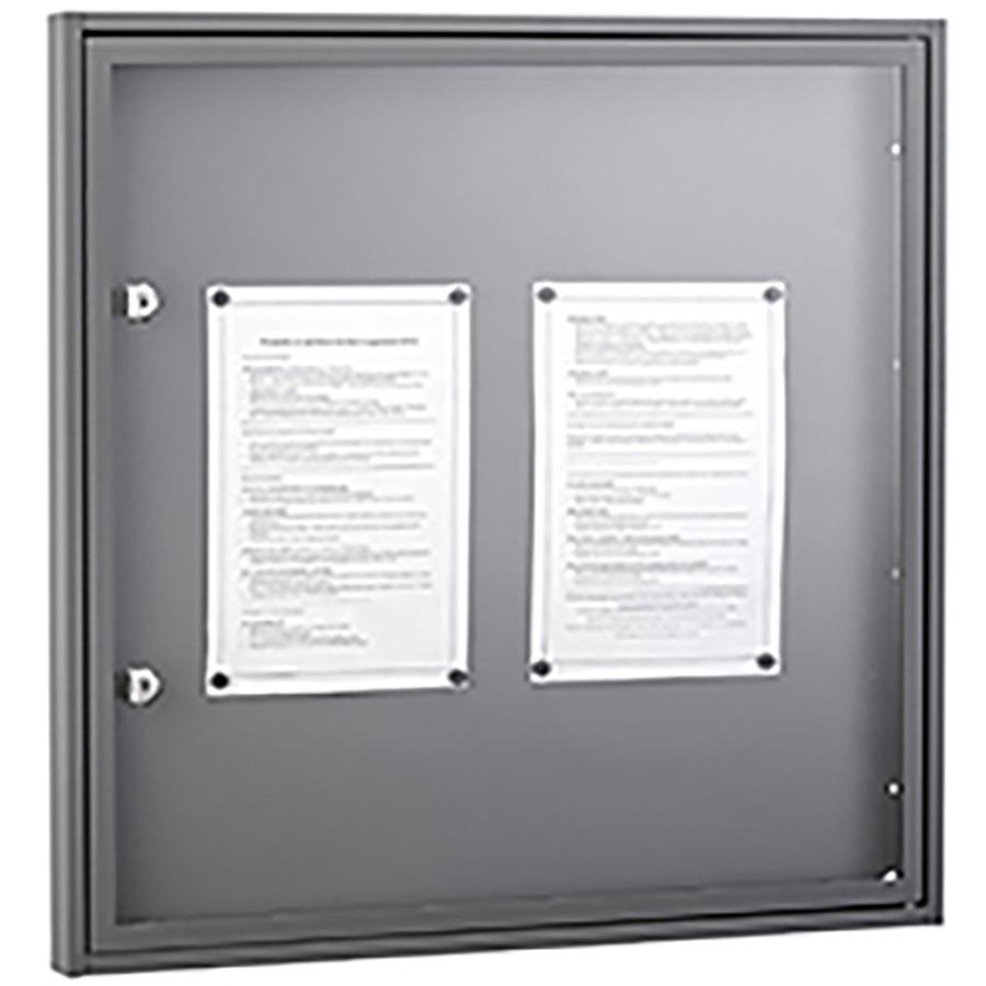 Tableau d'affichage 4 feuilles - Fond magnétique et porte plexi