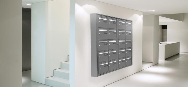 hall d'immeuble design boites aux lettres épurées