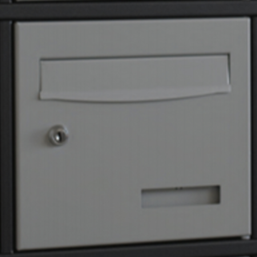 Portillon boites aux lettres extérieur acier Magnelis