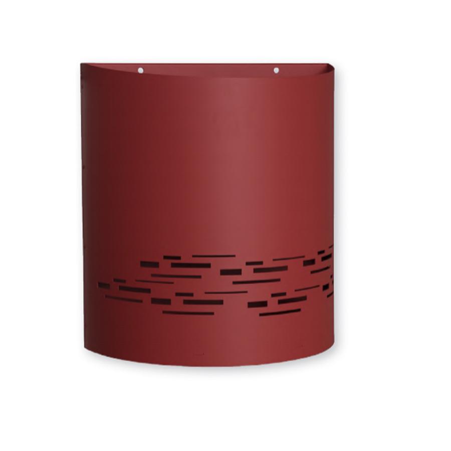 Agencez votre hall d'immeuble avec la corbeille en acier magnelis très résistante